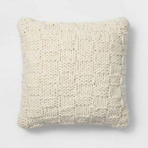 Threshold chunky knit throw pillow